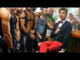 Олег Ляшко поет песню Голубая луна.Gay parade in Kiev in honor of joining the European Union.