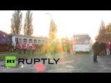 Хорватия: Беженцы борт тренеров в Словению после Венгрия закрывает границу.