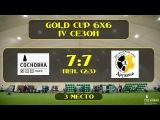 OLE GOLD CUP 6X6 4 сезон. Матч за 3-е место. ДРУЖИНА - СОСНОВКА