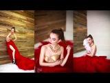 Тематическая фотосессия с созданием образа: красное платье с золотым корсетом