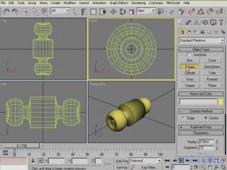 Моделируем дом в 3D Studio MAX® 2009 - Создаем дверные ручки