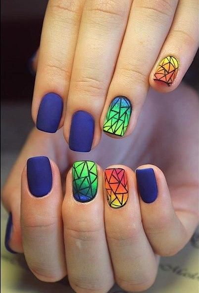 Дизайн ногтей пигменты фото
