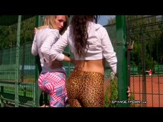 Pantyhose, Silky Fetish ∞ Sexy girl Teen Hot ass Amateur Leggings spandex Две попки в лосинах леггинсы