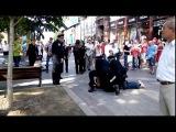 Появилось видео задержания буйного нарушителя новой полицией