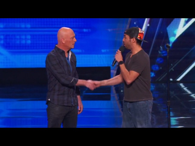 Americas Got Talent 2015 S10E01 Chris Jones Hypnotizes Howie Out Of His Germaphobia
