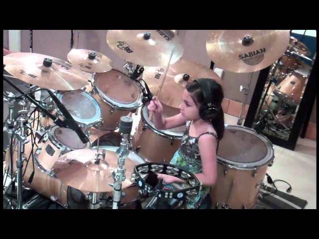 10 Year Old Girl Drummer Paulina From Mexico My Life Would Suck Cobus Version