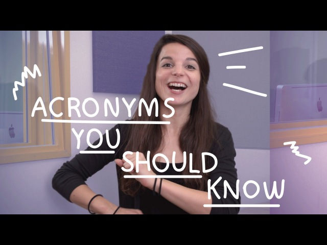 Weekly English Words with Alisha - Acronyms You Should Know