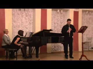 И.С. Бах Адажио, Ф. Пуленк Соната для кларнета и фортепиано