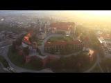 Kraków z lotu ptaka 4k / Cracow from above 4K Poland