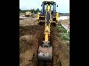 JCB 4cx работа обратной лопатой!