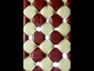 Панель в каретной стяжке с динамичной подсветкой-3 перетяжка мебели ( Омск 488557)