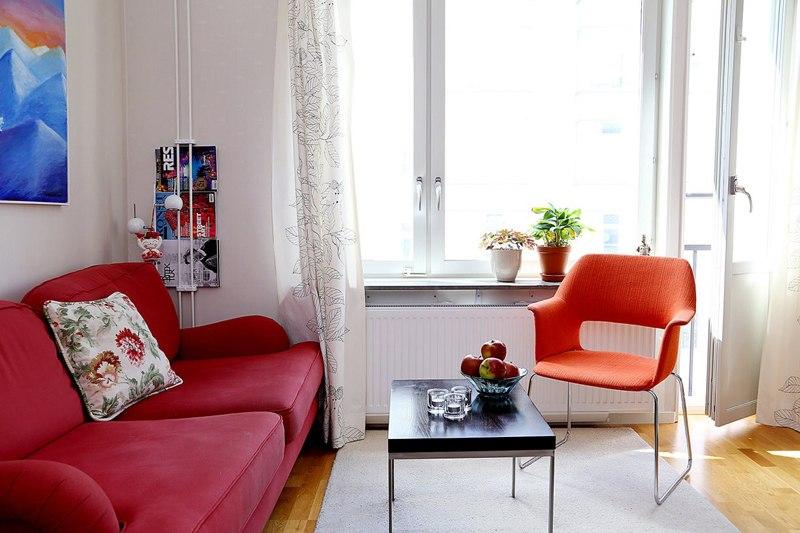 Интерьер квартиры-студии 29 м в Европе.