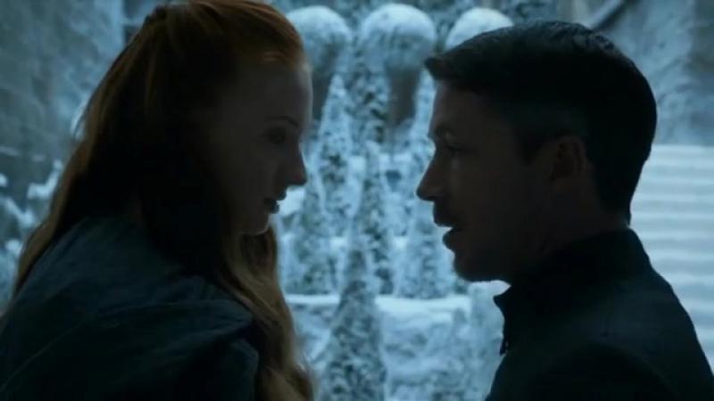 Petyr Baelish kisses Sansa Stark and kills her aunt Lysa Arryn