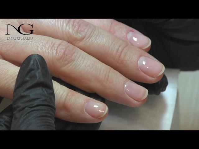 Выравнивание ногтевой пластины под гель-лак / Alignment of the nail plate under the gel polish