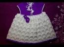Платье-сарафан спицами для девочки - Видео (ЧАСТЬ 2)