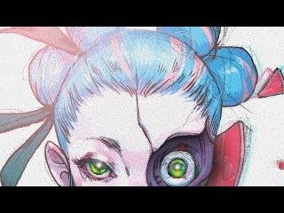 School Girl Digital Illustration Quickie