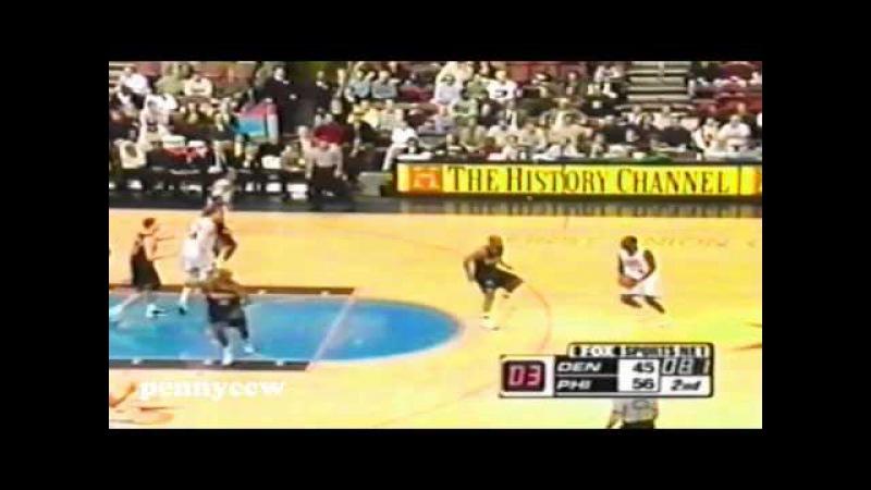 Allen Iverson 37pts Full Highlight vs Denver Nuggets 00/01 NBA
