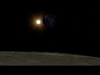 NASA показало, как выглядит лунное затмение с Луны