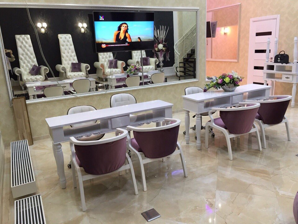 Inside nail salon