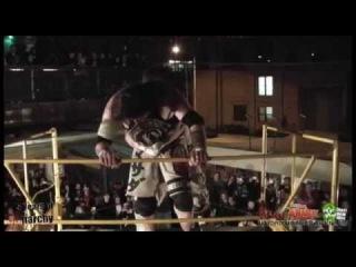 World  Hardcore Championship Matthew Palmer vs Masada (Scaffold match)