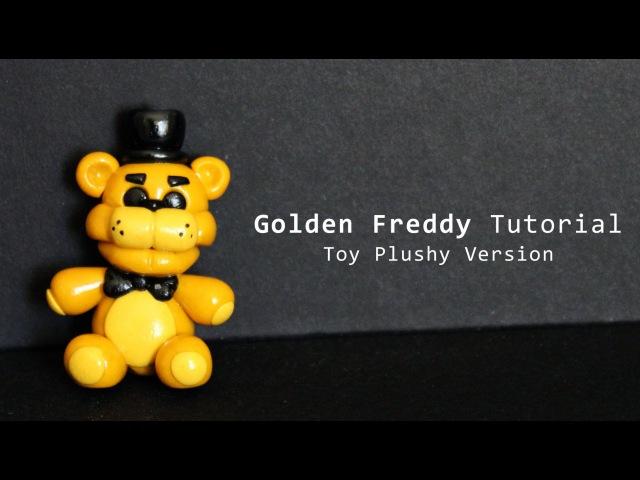 Five Nights at Freddy's Golden Freddy Toy Plush Polymer Clay Tutorial