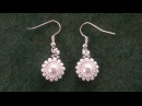 Beading4perfectionists: Classy - stunning - easy to make pearl earrings beading tutorial