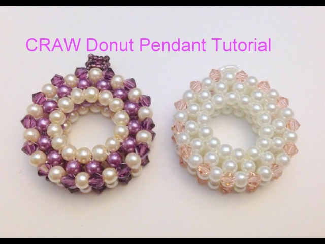 Pearl Cubic Right Angle Weave (CRAW) Pendant--Intermediate Level