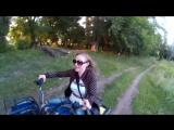 Семейная поездка на квадроциклах.