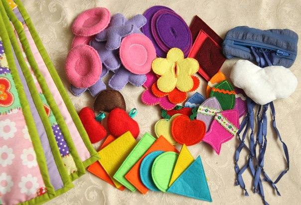 Игрушки из фетра для малышей (10 фото) - картинка
