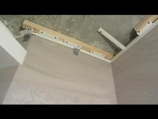 Установка натяжного потолка на керамогранит