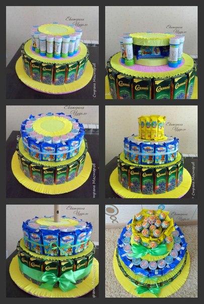Торт из угощений
