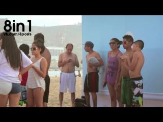 На пляже сделал бесплатный Вай-Фай-щит для защиты от рака кожи / Shadow Wifi Connects You and Protects You - skin cancer