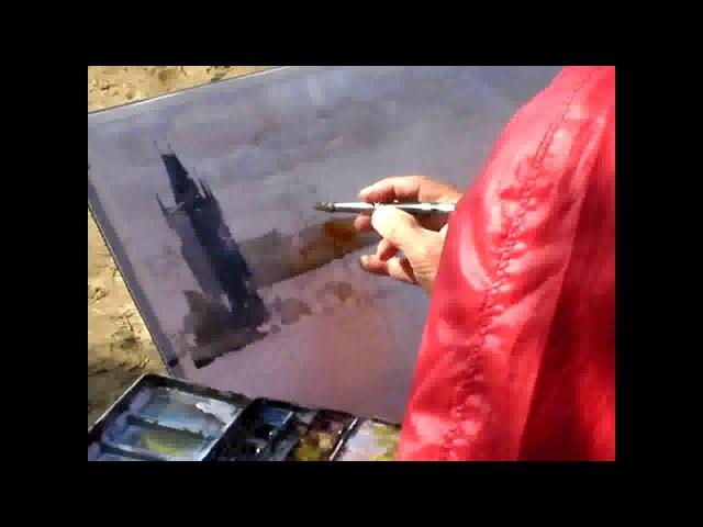 Kazuo Kasai paints