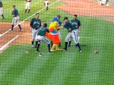 Famous Chicken gets beat up by the opposing team!