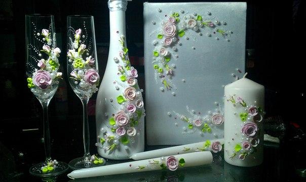 Шампанское бокалы свечи на свадьбу