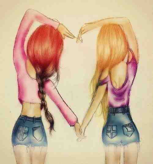 Лучшие подруги - как сестры.Ссорятся,мирятся,но не забывают о том,что