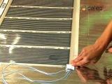 Монтаж плёночного теплого пола под ламинат и линолеум