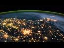 Земля ночью вид из космоса HD