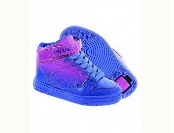 Кроссовки роликовые Fly розово-голубые Heelys (Хилис)