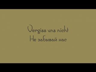 Rammstein - Vergiss uns nicht lyrics Текст песни и перевод