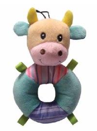 """Игрушка мягкая с пищалкой """"кольцо-корова"""", для щенков, Chomper"""