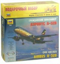 """Сборная модель """"самолет. аэробус а-320"""", Звезда"""