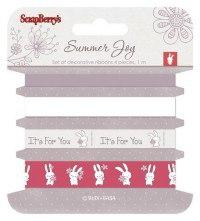 """Набор декоративных лен """"летняя радость"""", 4 штуки по 100 см, ScrapBerry's"""