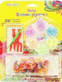 """Набор для творчества """"цветные резиночки"""", со станком, 300 штук, Tukzar"""