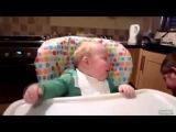 Малыш вот это смех - как у взрослого