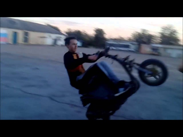 Стант Honda Dio 18 / Honda Dio 18 stunt. Другой формат