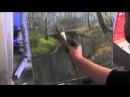 Художник Игорь Сахаров, как научиться рисовать речку в лесу, уроки рисования