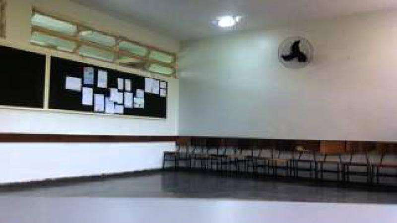 Capoeira Meia Lua: Oficina no CEF 08. Sobradinho II, Distrito Federal, Brasil. 14mai15. 13