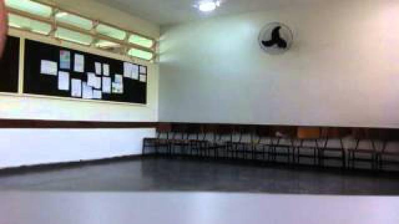 Capoeira Meia Lua: Oficina no CEF 08. Sobradinho II, Distrito Federal, Brasil. 14mai15. 17