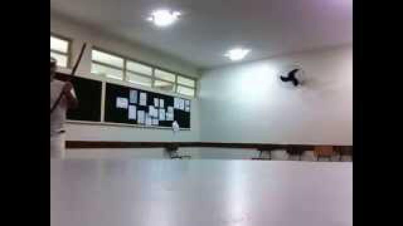 Capoeira Meia Lua: Oficina no CEF 08. Sobradinho II, Distrito Federal, Brasil. 14mai15. 05